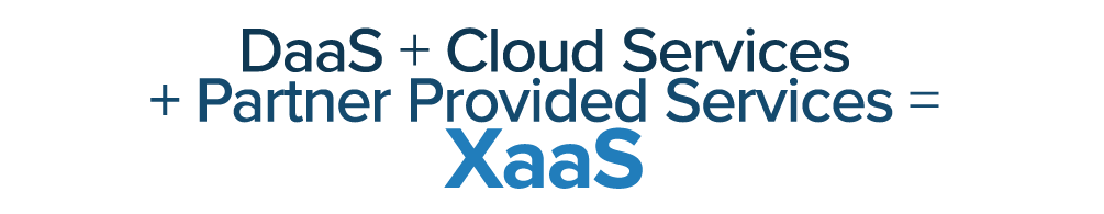 XaaS = DaaS + Cloud + Partner Services
