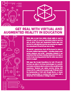 Get Real with Virtual & Augmented Reality in Education