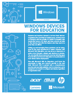 Windows Devices for Education
