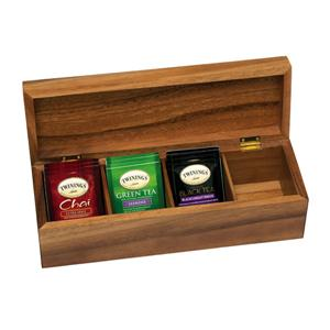 Acacia 4 Section Tea Box