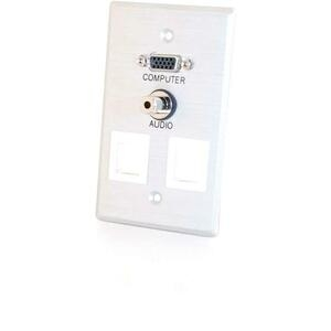 SnglGng HD15 3.55mm Wall Plate