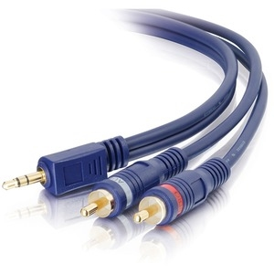 50' Streo M to Dual RCA M Cble