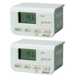 WW Indoor 24Hr Digit Timer 2pk