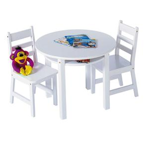 Rnd Table Chair Set White
