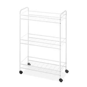 Household Cart Slim 3Tier Wht