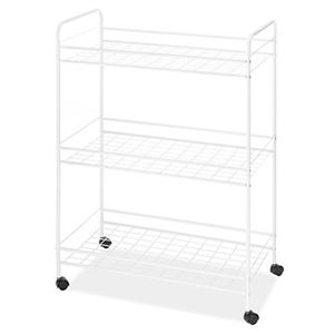Large Household Cart 3Tier Wht