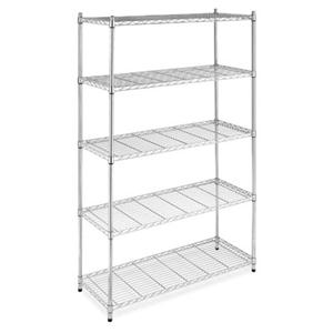 Supreme 5 Tier Shelving Chrome