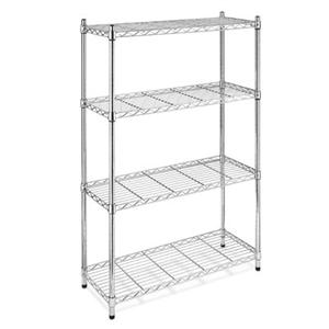 Supreme 4 Tier Shelving Chrome