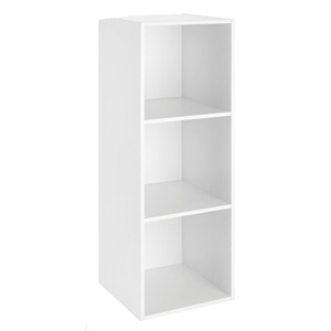 3 cube unit with 3 shelves