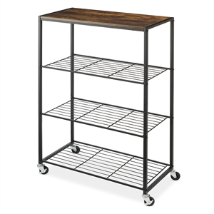 Rolling 4 Tier Storage Shelves