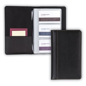 Leather Card File Black
