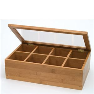 Bamboo Acrylic Adj Tea Box
