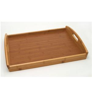 Bamboo Serving Tray Curved End