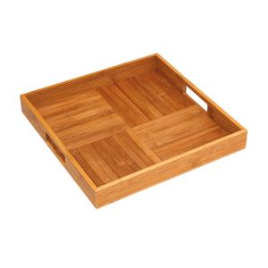 Bamboo Square Tray Criss Cross
