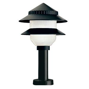 Moonrays 95534 Black Solar Path Lights In Tiered Design (Low Voltage 10-Fixture Kit) image