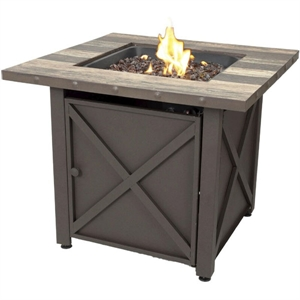 Endless Summer 30-in W 50000-BTU Brown Tabletop Steel Propane Gas Fire Table image
