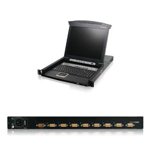 "8 port 17"" LCD Combo KVM Swtch"