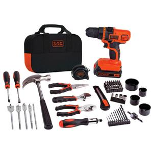 BLACK+DECKER 20V MAX Drill & Home Tool Kit, 68 Piece image