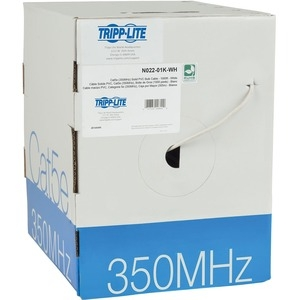 1000' CAT5E Bulk Cbl Wht FD