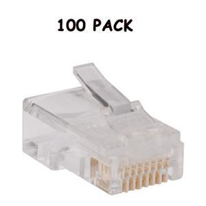 100PK Plgs Cat5e Cbl