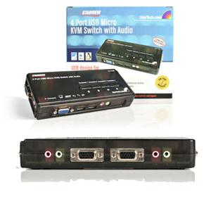4Pt USB KVM Switch and  Audio
