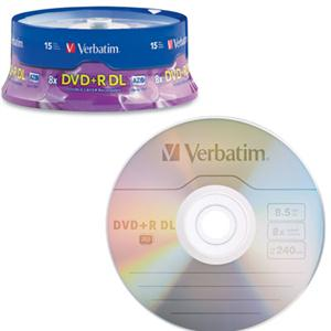 DVD+R DL 8.5GB 8X Branded 15pk