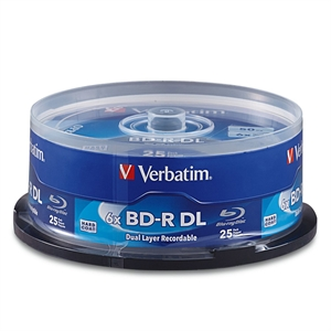 BD R DL 50GB 6X 25pk Spindle