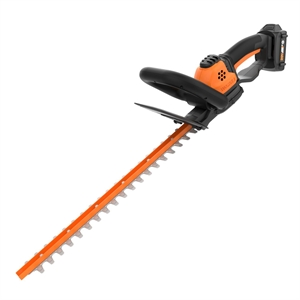 WORX WG261 20V Power Share 22-Inch Cordless Hedge Trimmer, Battery and Charger Included, Black and Orange image