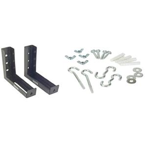 "6"" L Mounting Brackets Black"