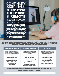 Continuity Essentials: Supporting the Hybrid & Remote Classroom